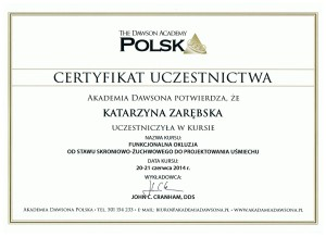 certyfikat Dawsona